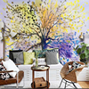 3d Custom Modern Fashion Abstract Wallpaper Colorful Tree Hand Painted Wall Mural Nordic Simple Landscape Painting