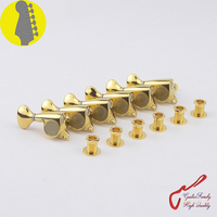 1 Set Original Genuine 6 In line GOTOH SGS510Z S5 Left Hand Guitar Machine Heads Tuners ( Gold ) MADE IN JAPAN
