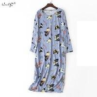 Пёс из мультфильма рубашки Для женщин Ночная рубашка пижамы одежда с длинным рукавом сексуальное ночное женские трусы ночное белье домашня...
