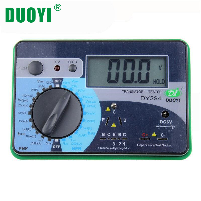 DUOYI DY294 Multifunction Digital Transistor Tester Semiconductor 1000V Reverse Voltage Capacitance SCR FET Testing Machine