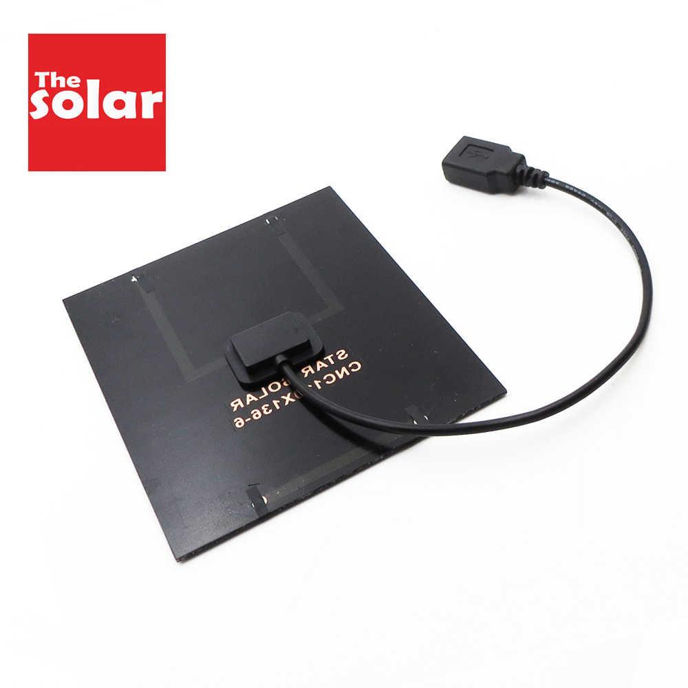 2 3 3.5 4.5 5 6 10 W W Bảng Điều Khiển Năng Lượng Mặt Trời Sạc Loa Bluetooth Powerbank Máy Ảnh Kỹ Thuật Số 5V USB đầu Ra Bảng Điều Khiển Năng Lượng Mặt Trời 6V