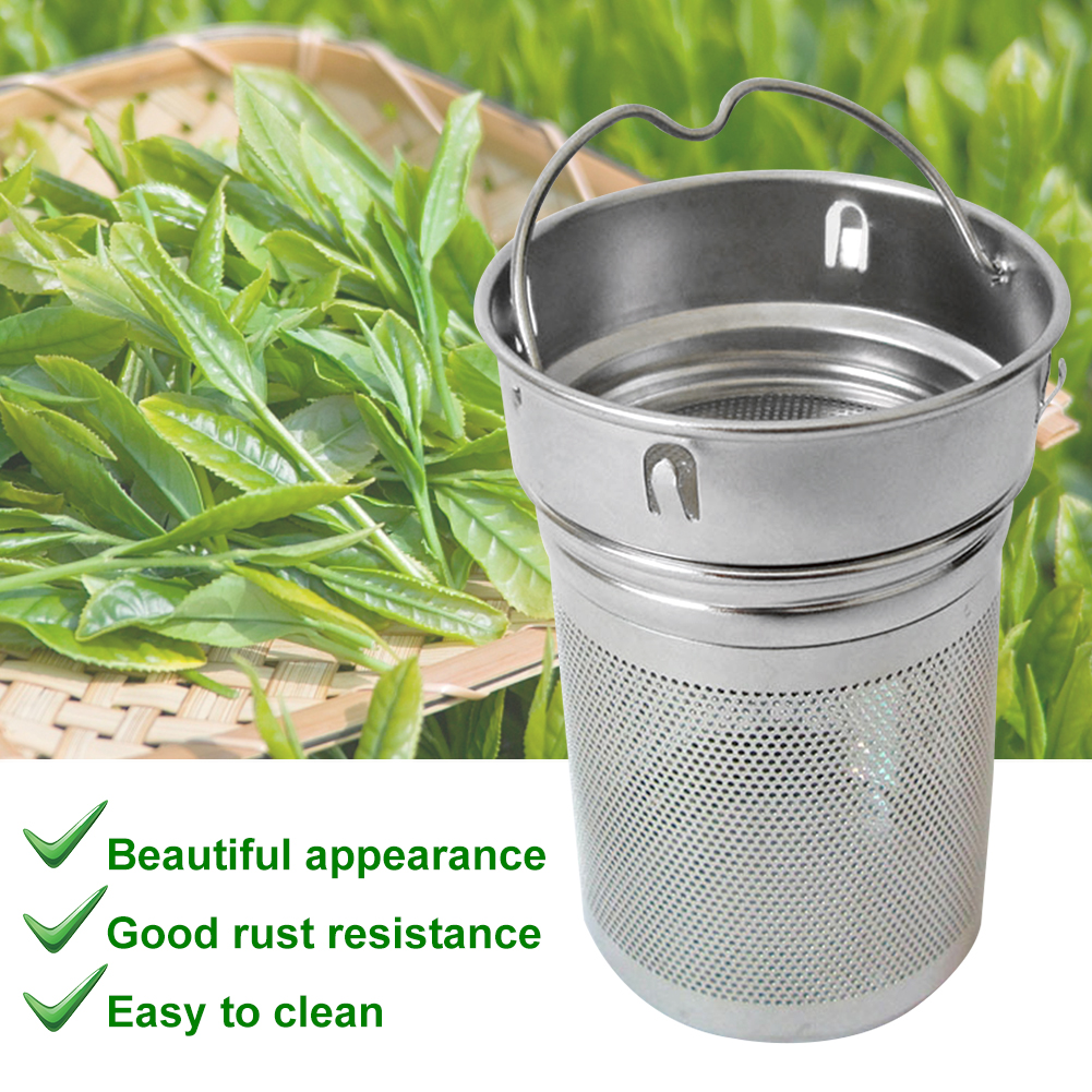 Office Bottle Tea Infusers Stainless Steel Spice Cup Tea Strainer Filter Laser Hole Two Mesh Drinking Hiking Portable Home