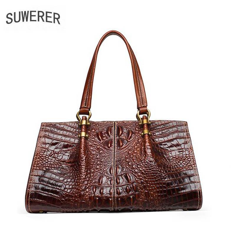2017 new fashion luxury crocodile pattern handbag Women's leather handbag Fashion personality shoulder Messenger Bag yuanyu new 2017 new hot free shipping crocodile women handbag single shoulder bag thailand crocodile leather bag shell package
