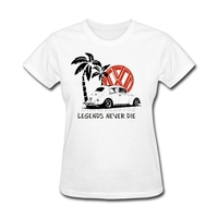Ladies Retro BUG Political Memorial Day T Shirt Size L Legends Never Die Women T Shirts