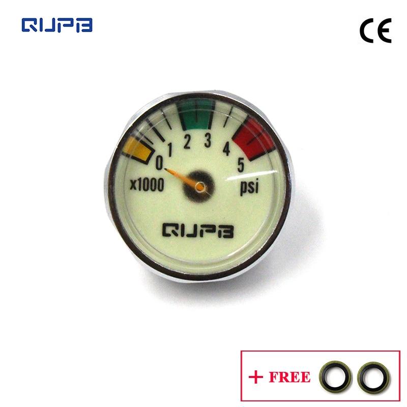 QUPB High Pressure Paintball 1.5 Inches Gauges Luminous  5000PSI 1/8NPT Thread GED001