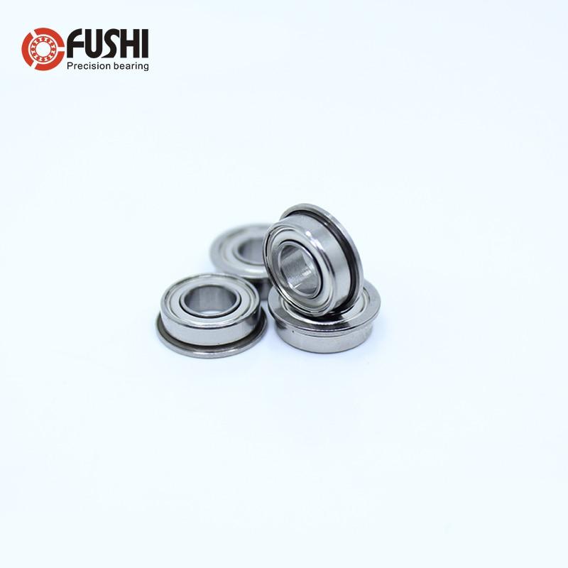 SMF84ZZ Flange Bearing 4x8x3 Mm 10PCS Double Shielded Stainless Steel Flanged SMF84 Z ZZ Ball Bearings SMF84Z SMF84-2Z MF84 ZZ