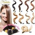 """Pelo Recto brasileño 7A Inclino Extensiones de Cabello 100 s/lote 18 """"-24"""" Nail/Inclino Fusión Extensiones de cabello 1 g/s queratina del cabello"""