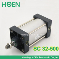 SC32*500 standard air cylinder 32mm bore 500mm stroke SC32 500 single rod double action pneumatic cylinder SC 32 500