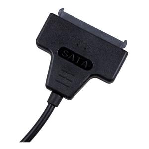 "Image 5 - USB 2.0 to SATA Serial ATA 15+7 22P Adapter Cable For 2.5"" HDD Laptop Hard Drive"