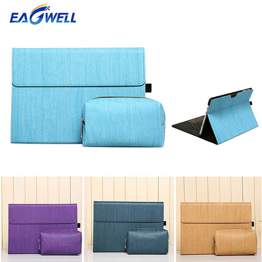 Eagwell PU Leather Sleeve Case Bag for Microsoft Surface Pro 3 12 inch Tablet Flip Stand Sleeve Pouch Cover for Surface Pro 3 mooncase owl style leather wallet flip card slot stand pouch чехол для microsoft lumia 540 a15