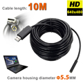 6 LEDS de 5.5mm Endoscopio USB MINI Cámara IP67 A Prueba de agua Tubo Boroscopio Cámara de Inspección Con 10 M Rígido Flexible Serpiente Cable