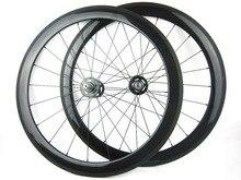 free shipping cost carbon single speed bike wheel 50mm clincher 23mm width 700C track wheel