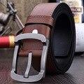 Высокое Качество Марка Стиль 2016 мужская Мода пояса роскошные подлинная кожаные ремни для мужчин случайные пояса мужской meatal пряжки бесплатно доставка