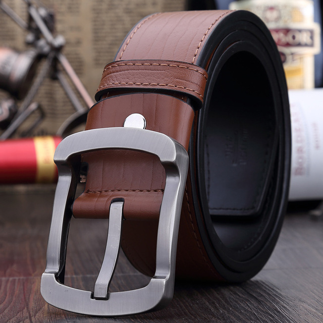 High Quality Brand Style 2016 Fashion men belt luxury genuine leather belts for men casual belt male meatal buckle free shipping