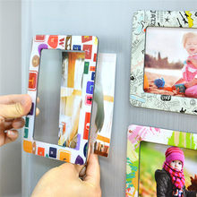 Colorful Magnetic Picture 11.8*16cm Photo Magnets Photo frame Refrigerato wall molduras picture marcos para fotos(China)