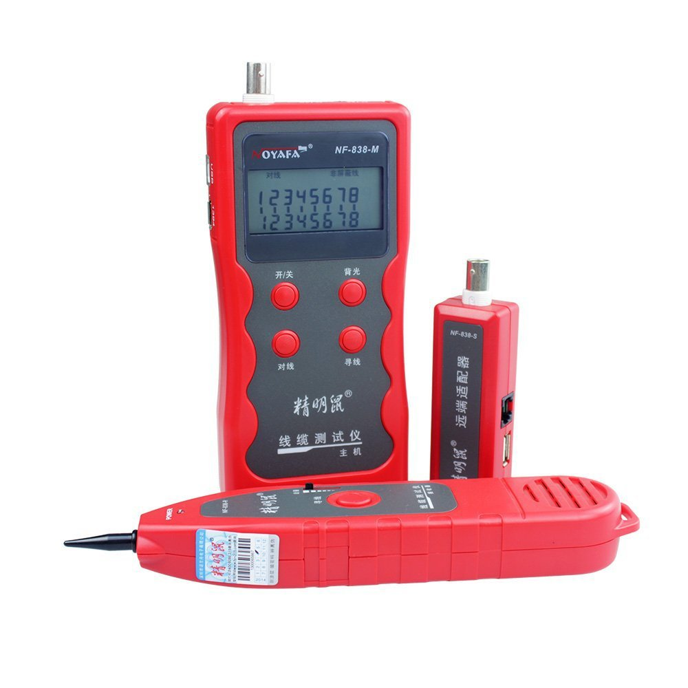 Professional NF-838 Ethernet LAN Network Cable Tester Telephone Wire Tracker STP UTP RJ45 RJ11 BNC USB 1394 Line Finder new rj45 rj11 ethernet lan network cable tester wire tracker detector telephone wire tracer line finder tester with bnc terminal