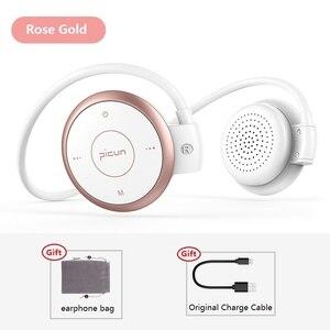 Image 2 - Picun T6 אוזן וו אלחוטי Bluetooth אוזניות ספורט עמיד למים אוזניות MP3 הפחתת רעש אוזניות תמיכת TF כרטיס