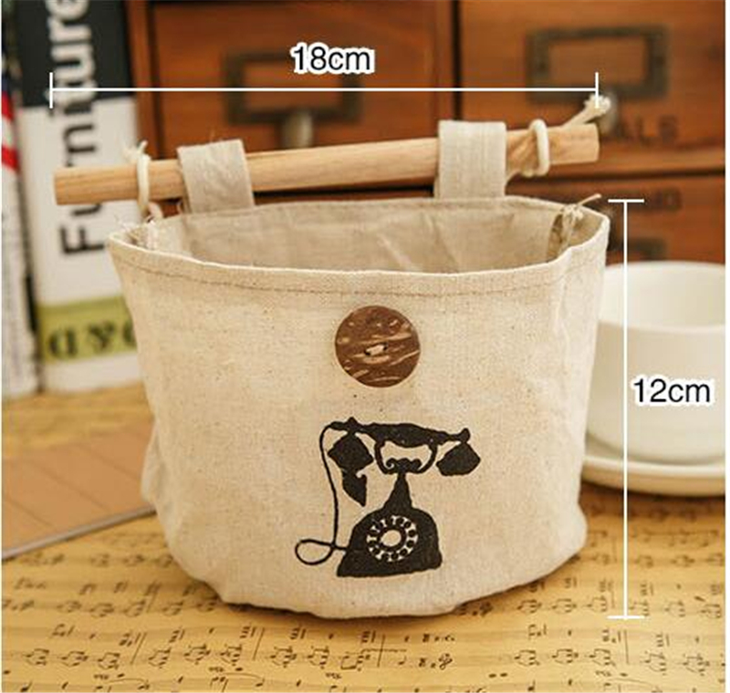 Wholesale Retail Linen Cotton Storage Bag Color 6 hanging closet