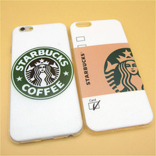 "Hot Sale da moda de café starbucks TPU magro tampa traseira da pele para Apple iPhone 6 6 s 4.7 "" Ultra fino macio Phone Case Shell"