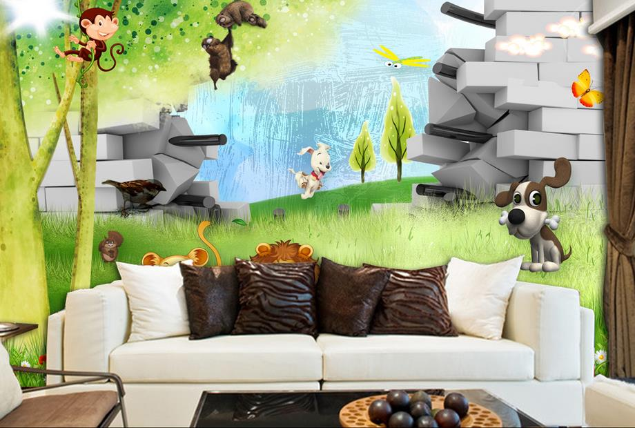 custom wallpaper modern wallpaper for kids room Cartoon background wall 3d wall paper for living room photo wall murals large murals cats animal 3d papel mural wallpaper for living room background 3d wall photo murals wall paper 3d wall sticker