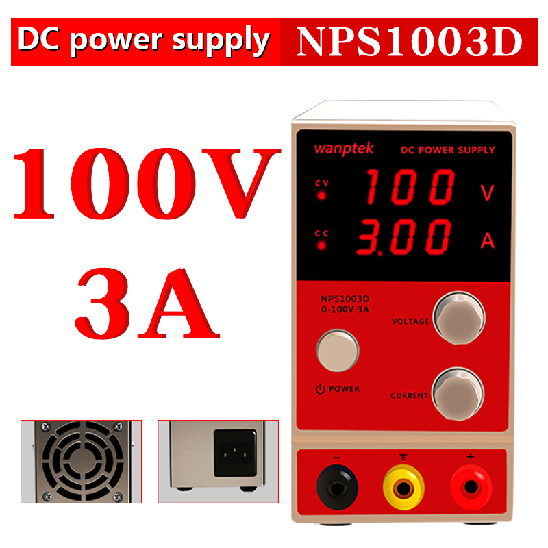 NPS 100V 3A Wanptek adjustable dc power supply NPS1003D Variable Regulated the power modul Digital switching DC power supply HOT
