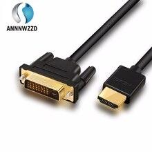 Adaptador HDMI a DVI DVI D, 24 + 1 Pines, 4K, macho DVI D bidireccional a HDMI macho, Cable Convertidor para LCD, DVD, HDTV, XBOX