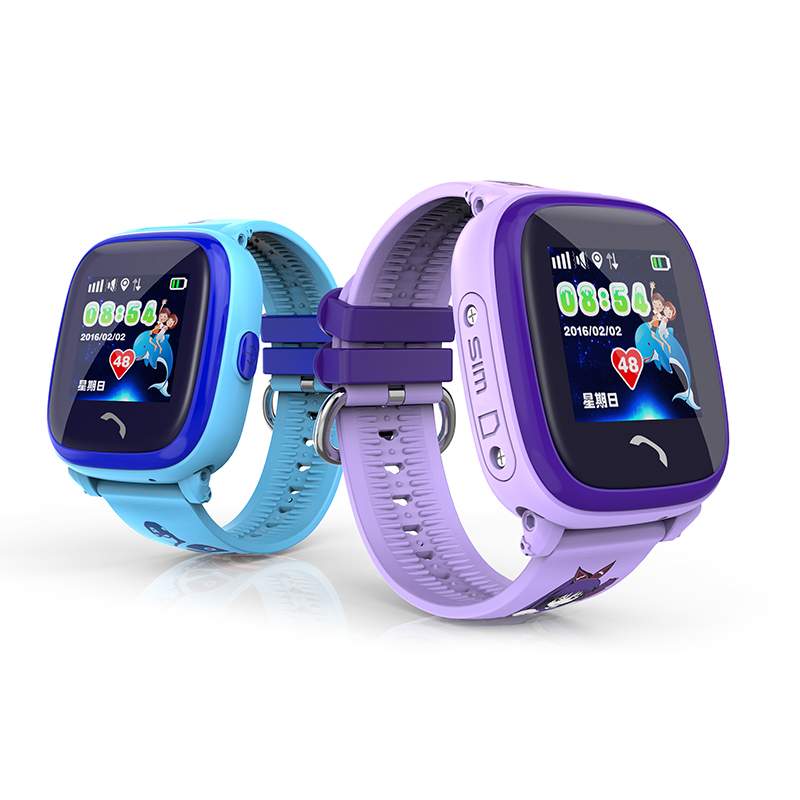 Kids Swimming OLED Watch Barn Smartwatch GPS Touch Phone Barn Se SOS Call Location Device Tracker Säker Anti-Lost Monitor