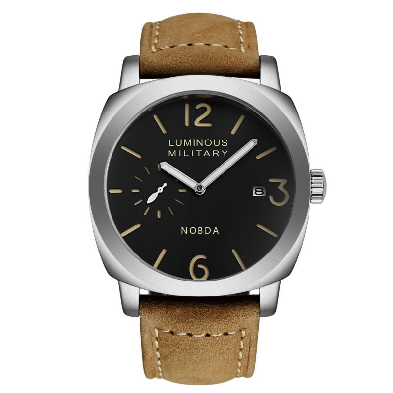 Fashion Brown Leather Strap Mens Watch Quartz Diver Dz Sport Sloar Military Watches Top Luxury Brand  Clock Ar Wrist Watch 016B 3 1745 9126 dz ar