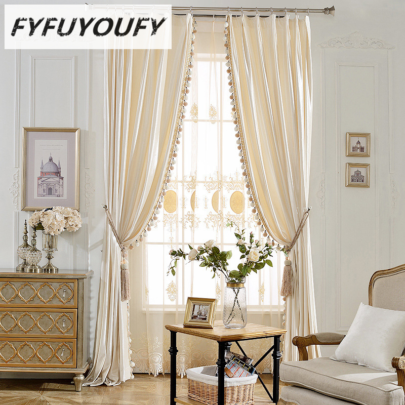 Us 23 56 51 Off Modern Luxury Elegant Solid Curtain Window Blinds Kitchen For Living Room French Windows Curtains Can Customized In