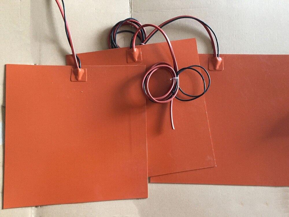 240x240mm 12 v 300 w silicone riscaldatore letto per stampante 3d con 3 m adesivo posteriore/termistore ntc silicone heating pad silicone pad riscaldatore 220 v 800 w dia 500mm con 3m adesivo abd 100k termistore oil silicone heater film heat electric heater