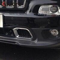 Otomobiller ve Motosikletler'ten Krom Şekillendirici'de Jeep Cherokee 2014 için 2015 2016 ABS krom araba ön ızgara koruyucular kapak Trim ön ızgara yarış araba dış aksesuarları