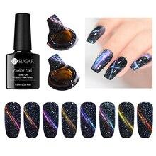 UR SUGAR 7.5ml Holographic 3D Cat Eye Nail Gel Polish Magnetic Laser Glitter Soak Off UV Gel Varnish Manicure Nail Art Lacquer