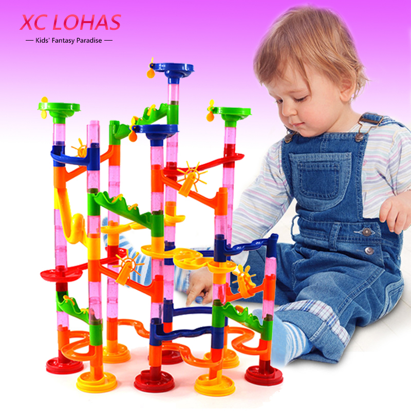 Genius DIY Building Blocks Creative Marble Run Toys Children Educational Toys Kids Fun toys Christmas Gifts Fast Shipping dayan gem vi cube speed puzzle magic cubes educational game toys gift for children kids grownups