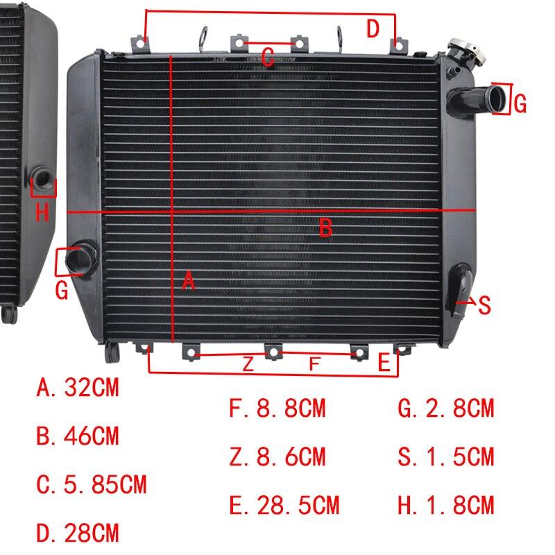 LOPOR Motorcycle Radiator For KAWASAKI ZX 12R ZX12R ZX12 R ZX1200 R 02 05 03 04
