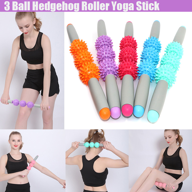 Yoga Exercise Roller Stick Eliminate Fat Lose Weight Muscle Leg Body Back Muscle Massager Tool ED-shipping image