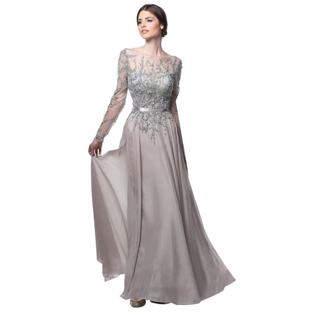plata/negro madre del vestido de novia para la boda 2017 mangas