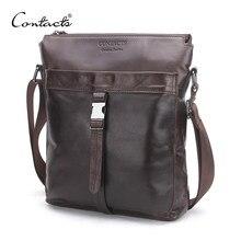 d5ddfaaa636f (Отправка из RU) CONTACT'S из натуральной кожи Для мужчин сумки Лидер  продаж мужской сумка человек Модные Crossbody сумка Для мужчин путешествия .