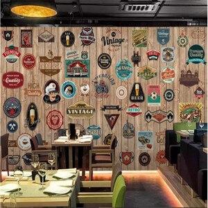 Пользовательские фото обои 3D Европа и Америка икона деревянная доска фон настенное Настенное панно для баров и кафе KTV Ресторан обои декор