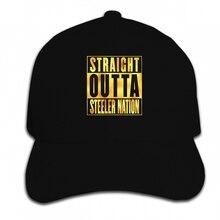 Impresión de encargo gorra de béisbol SPGBTees de hoja de oro de los  hombres recto fuera de Steeler Nation Color negro XS sombre. f34eb85d513