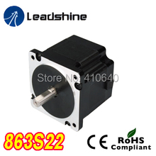 Free Shipping GENUINE Leadshine 863S22 3 Phase Hybrid Stepper Motor with 2.3 N.m 5 A length 71 mm shaft 12