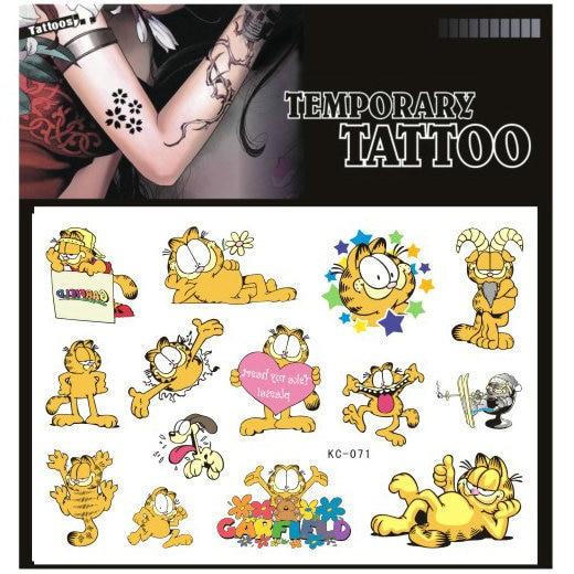High Quality Cartoon Tattoo Stickers Garfield Anime Cat Tattoo Paste Wholesale Tattoo Hwl 61 Tattoo Pigment Tattoo Hosierytattoo Paint Aliexpress