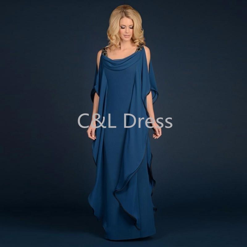 Grecian Goddess Chiffon Mothers Dress With Straps Floor Length Long Elegant Women Dress Mother of the bride groom Dress (1)