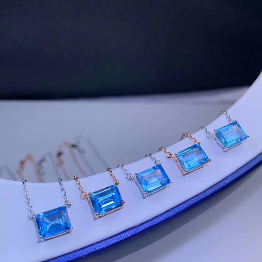 shilovem 925 silver sterling  natural topaz Pendants trendy fine Jewelry vintage new wholesale plant dz0709283agb