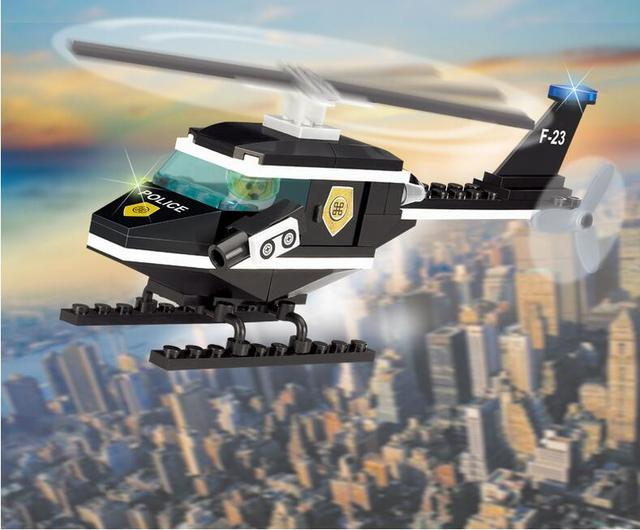 76pcs Helicopter Cage Blocks Technic Assembling Vehicl Brick DIY Lepin Montessori Educational Learning Toys For Children