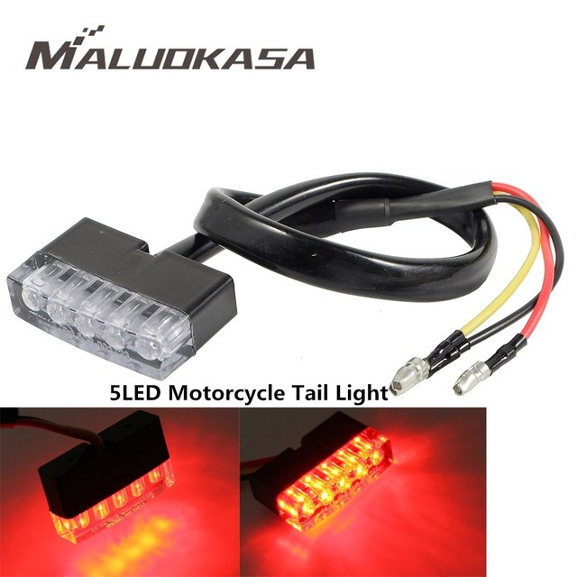 US $3 29 |MALUOKASA Motorcycle Mini Rear Light Stop Lamp Motorbike Brake  Light Taillight Custom Cafe Racer For JEEP SUV Truck Trailer Moto on