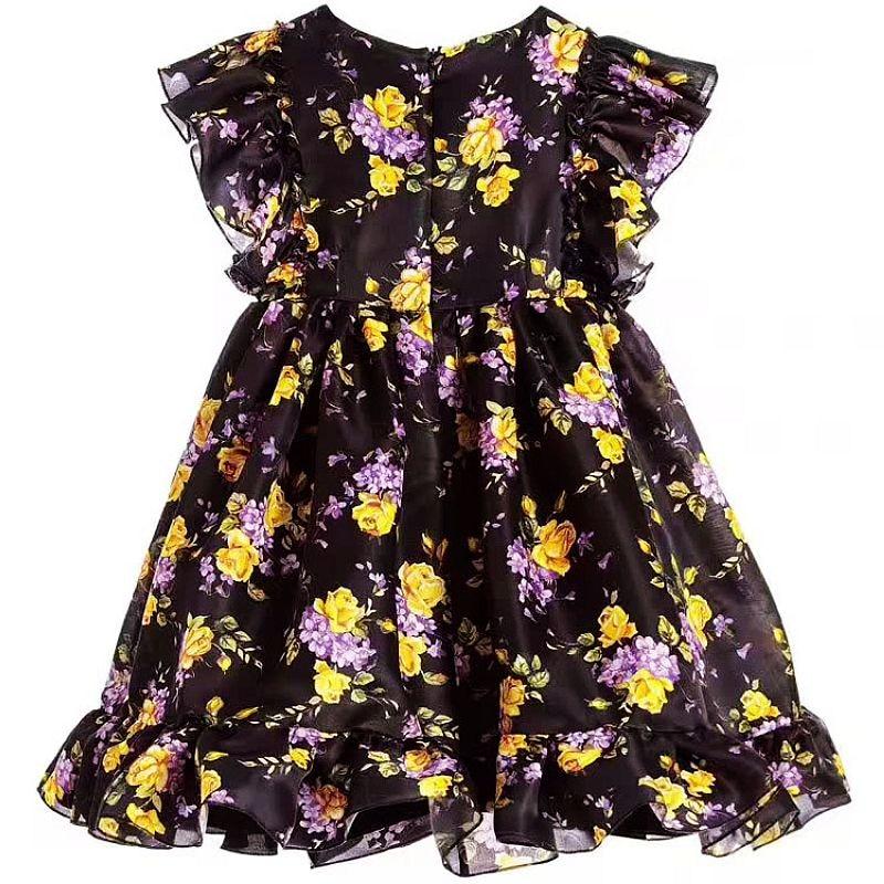 Girls Summer Dress Toddler Clothes 2017 Brand Robe Fille Children Costume Princess Long Dress Floral Kids Dresses
