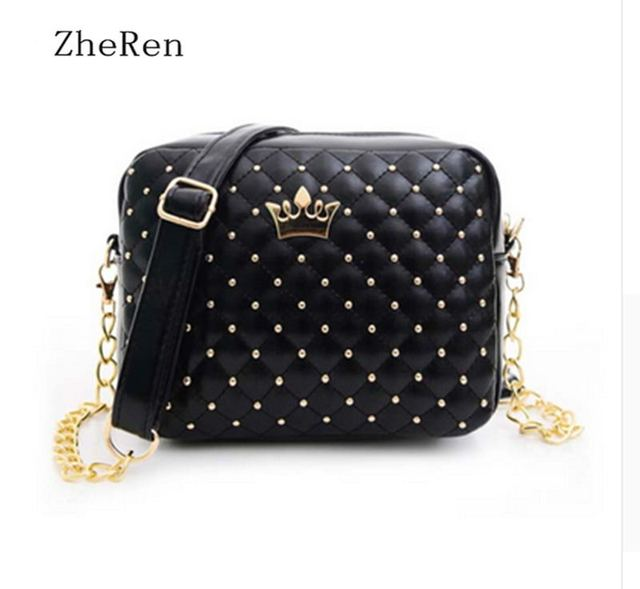 New Rivet Chain Shoulder Bag handbags of High Quality Design Shoulder Bag Female Hot Ladies Handbag PU Leather crossbody