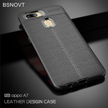 For OPPO A7 Case Soft Silicone PU Leather Shell Shockproof Anti-knock Phone Cover Funda 6.2 BSNOVT
