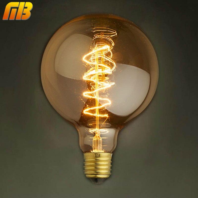[MingBen] Vintage Edison Lampadine G95RS 220 V E27 Lampadine A Incandescenza 40 W Filamento Retro Edison Luce Per Il Pendente lampada Della Decorazione