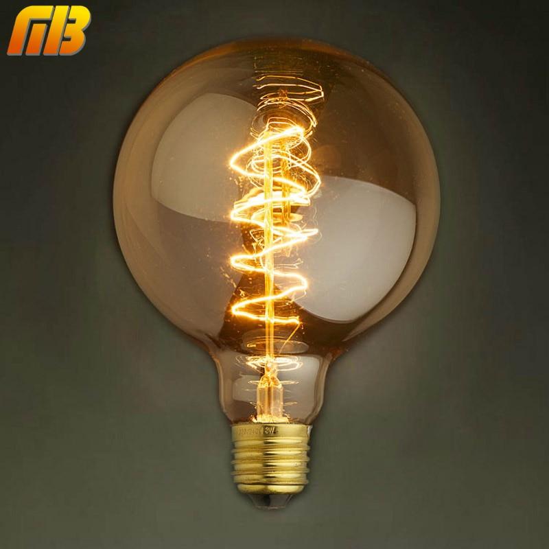 [MingBen] Vintage Edison Bulbs G95RS 220V E27 Incandescent Bulbs 40W Filament Retro Edison Light For Pendant Lamp Decoration